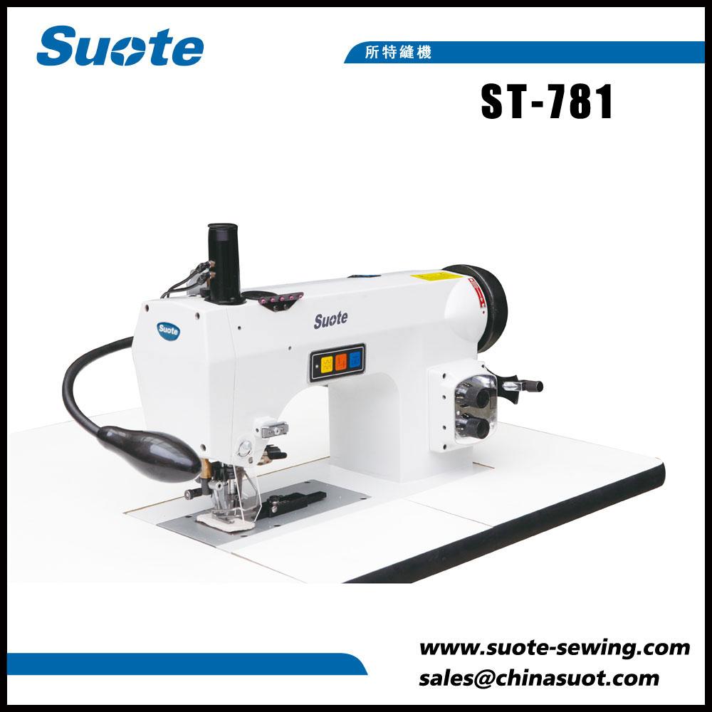 Máquina de coser industrial cosida a mano